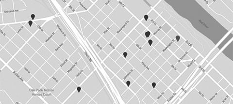 Properties map downtown alexandria, la buildings for rent or sale